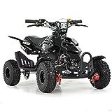 FunBikes Kids Mini Quad Bike 49cc 50cc Petrol Quad - Ride On ATV Midi (Black)