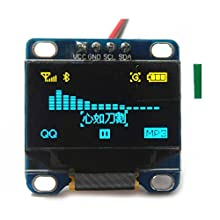 "0.96"" Inch Yellow and Blue I2C IIC Serial 128X64 OLED LCD LED Display Module for Arduino 51 MSP420 STIM32 SCR"