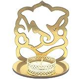 Satyam Kraft ( 1 Pcs ) Ganesh Ji Shadow Diya Tealight Candle Holder Stand For Pooja And Decorative/Gift/Diwali Gift/Diwali Decor/wedding Gift/Diwali Diya