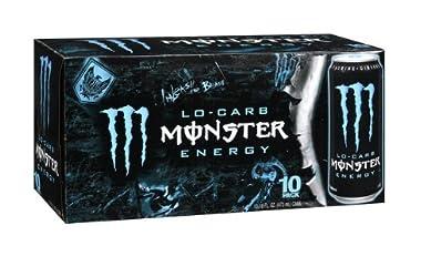 【アメリカ版・日本未発売】 モンスター エナジードリンクダイエット(ローカーブ) 16オンス(473ml) 10本セット 【並行輸入品】 Monster Lo-Carb Enrgy...