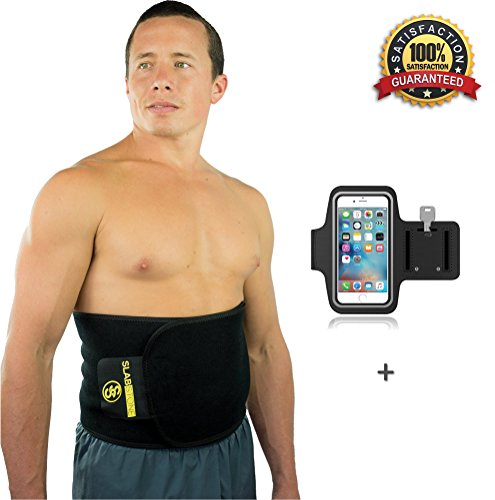 Slabstone Waist Trimmer Ab Belt - Tummy Tuck Belt - Stomach Wraps for Weight Loss - Home Gym - Weights - Belly Fat Burner - Tummy Wrap - Weight loss Belt for Men and Women - Sauna Belt - (Large) (Abs Belt For Women compare prices)