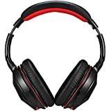 [2015 New Arrivals] AUSDOM® NEW Upgraded M04 with NFC and CSR V4.0 Bluetooth Enhanced Data Rate with APTX Built-in Microphone Over-ear Headphones Stereo Wireless +Wired Headsets/headphones for Music Hands-free Audio and Phone Calling Black-red