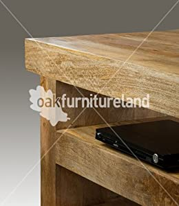 Buy one get one  Mantis Light Natural Solid Mango TV Cabinet