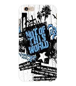 ColourCraft Typography Design Back Case Cover for APPLE IPHONE 6 PLUS