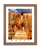 Claude Monet Girl Woman Sunflower Garden Landscape Home Decor Wall Picture Oak Framed Art Print