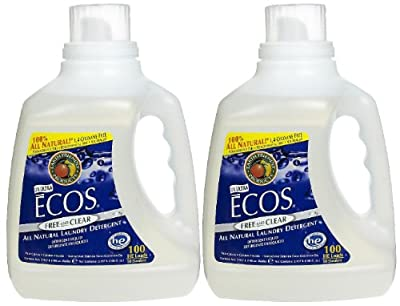 Earth Friendly Products Ecos Ultra Liquid Laundry Detergent, Free & Clear, 100 oz, 100 loads-2 pack