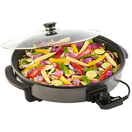 vonshef-1500w-round-multi-cooker-large-42cm-diameter-with-glass-lid-non-stick-surface-free-2-year-wa