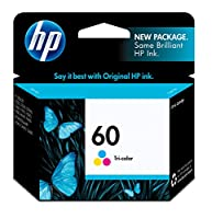 HP 60 Ink Cartridge (Cartucho) Color Original (CC643WN) by HP