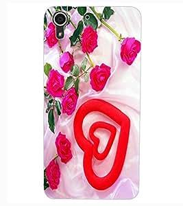 ColourCraft Lovely Heart Design Back Case Cover for HTC DESIRE 626G+