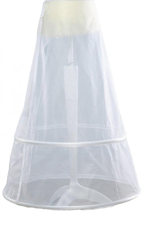 Einfache Hochzeit Reifrock Frauen 2 Reifen weiße Farbe Diamet