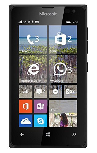 Microsoft Lumia 435 8GB Unlocked GSM Windows Smartphone - Black