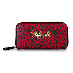 Wallet - Disney - Minnie Mouse - Leopard Red/Black New Licensed wdwa0305