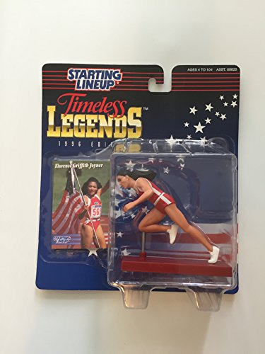 FLORENCE GRIFFITH JOYNER / USA OLYMPIC TRACK AND FIELD * 1996 TIMELESS LEGENDS Kenner Starting Lineup & Exclusive Collector Trading Card - 1