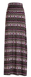Chevron Floral Aztec Tribal Striped Printed Full Maxi Skirt Dress