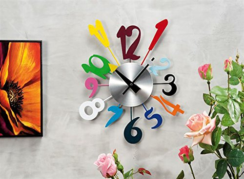 Balvi 25763 orologio da parete riiing nero a forma di for Orologi da cucina ikea
