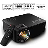 Projector, GooBang Doo T20 Portable Mini Home Theater Video Projector 1080P 1500 Lumens 800480 Resolution for TV Laptop SD Android TV Box Support HDMI USB SD AV VGA TV Interface