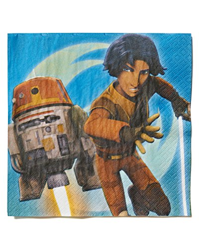 American Greetings Star Wars Rebels Lunch Napkins (16 Count), Party Supplies
