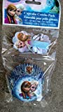 18 Frozen Paper Cupcakes Baking Cups & Decorative Picks