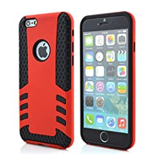 buy Yyue Ultra Protective Shell/Case For Apple Iphone 6(4.7 Inches And 5.5 Inch), Super Pc And Silica Gel 2 In 1 Carrying Case For Apple Iphone 6. High Quality Quakeproof And Drop Resistance Protection Case For Apple Iphone 6 (Apple Iphone 6 (4.7 Inch), Red)