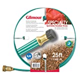 Gilmour 27141 3 Tube Sprinkler & Soaker Hose Flat 25-Feet, Green