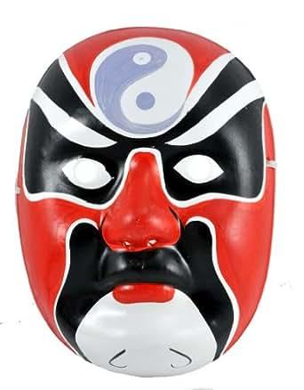Beijing Opera Mask, Chinese Opera Mask, Costume Mask, Face Mask, Red Mask, # 2