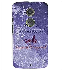 PrintDhaba Quote D-3858 Back Case Cover for MOTOROLA MOTO X2 (Multi-Coloured)