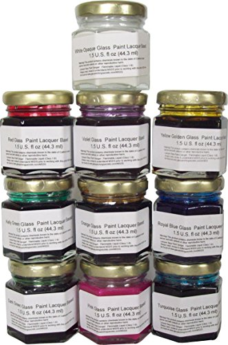 permanent-glass-paint-lacquer-stain-kit-10-pack-15-ounce-professional-stained-glass-finish