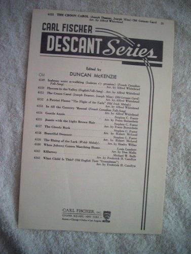 The Croon Carol. Joseph dearest, Joseph mine. (Old German Carol.) In an arrangement for Voice with Organ or Piano accompaniment by A. Whitehead PDF