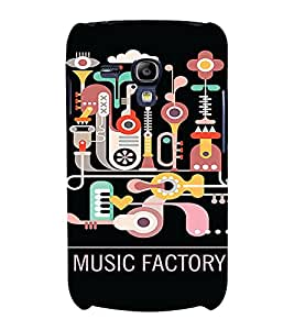 PrintVisa Cute Music Design 3D Hard Polycarbonate Designer Back Case Cover for Samsung Galaxy S3 Mini