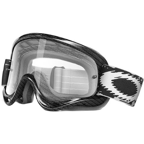 Oakley MX O Frame Carbon Fiber Print Adult Dirt Off-Road/Dirt Bike Motorcycle Goggles Eyewear - Clear / One Size Fits All (Motorcycle Carbon Fiber Mask compare prices)