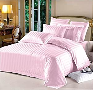 Hotel Collection 100% Cotton 6-Piece Bedding Sheets Set, California King, Pink Lasin Bedding
