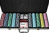 51DnvufAZDL. SL160  Pokerkoffer EAGLE (Adler) Design mit Kartenmischer 500 Laserchips Poker