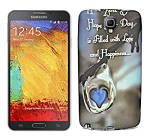 ECellStreet Exclusive Printed Soft Back Case Cover Back Cover For Samsung Galaxy Note 3 Neo N7505 - Love & Happiness