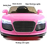 Audi Style 12v Electric Ride on Car with two speed and Remote - Pink - New
