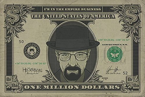 Breaking Bad Heisenberg Dollar Maxi Poster, in legno, colore: multicolore