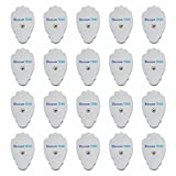 TENS Electrodes - Premium Quality Large Snap On Pads - 10 Pairs (20 Pads) - Discount TENS Brand