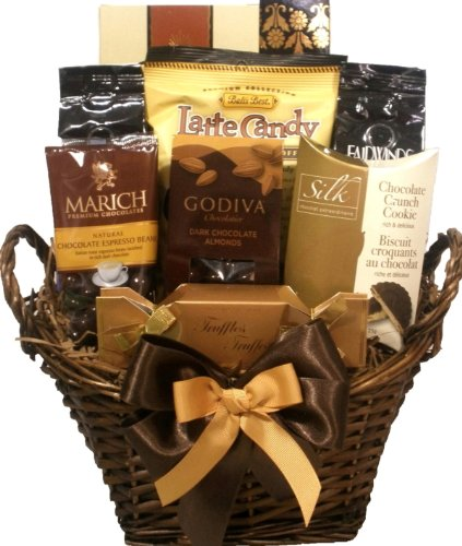 Delight Expressions™ Chocolate and Coffee Lovers Gourmet Food Gift Basket - A Great Gift Idea!