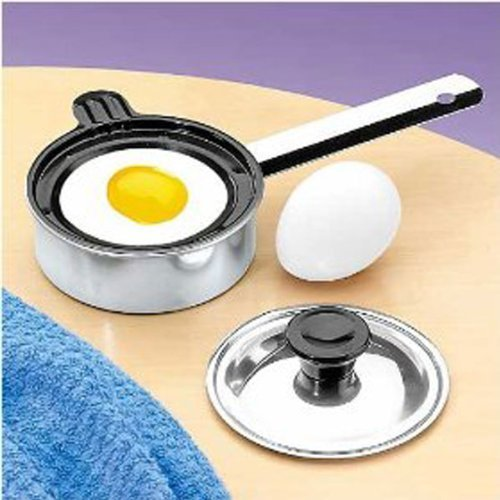 Individual Single Egg Poacher Non Stick Aluminum with Cover (Single Egg Pan compare prices)