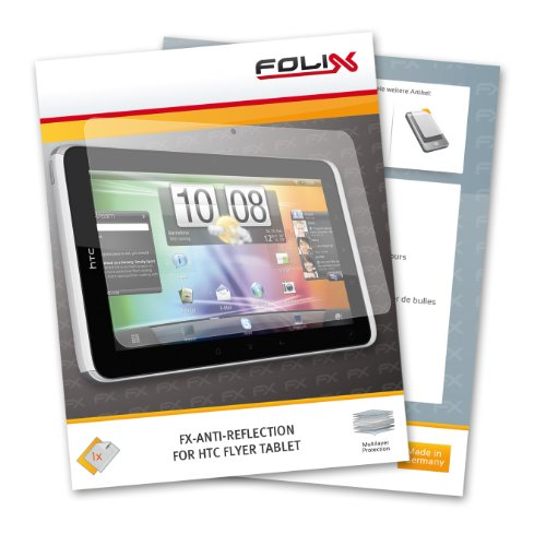 FoliX FX-ANTIREFLEX antireflective screen protector for HTC Flyer Tablet - Anti-glare screen protection!