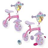 Disney Oficial Princesas 2 En 1 10 Bicicleta Para Niñas Balance & Pedal Modo Entrenamiento Moto