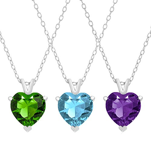 queen-jewelers-sterling-silver-cubic-zirconia-solitaire-heart-necklace-ruby-red