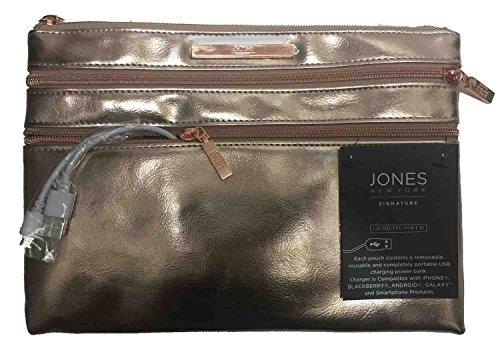 jones-new-york-signature-charging-pouch-gold-metallic-zip-closure