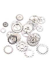 20pcs Steampunk Gears Pendant Necklace Findings Charm Pendants