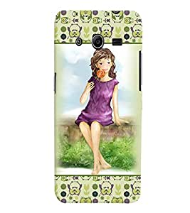 Fuson 3D Printed Girly Designer back case cover for Samsung Galaxy Core 2 G355H - D4280