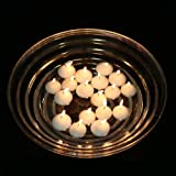 "2"" White Floating Candles (Set of 50) Wedding Party Favor Unscented Floater Disc"