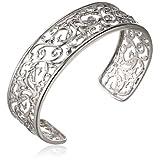 Sterling Silver Filigree Cuff Bracelet, 7.25