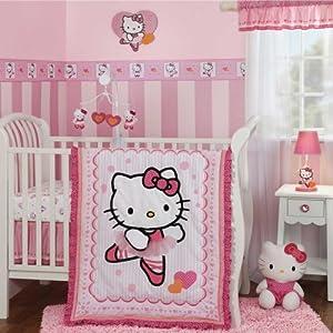Bedtime Originals Hello Kitty Ballerina 3 Piece Crib Bedding Set