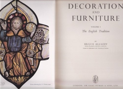 Decoration and furniture. Vol.1: The English tradition (Architect's library series)