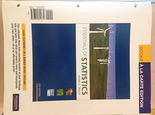 Essentials of Statistics 4TH EDITION