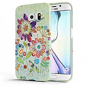 Koveru Designer Printed Protective Snap-On Durable Plastic Back Shell Case Cover for Samsung Galaxy S6 Edge - Wild Garden